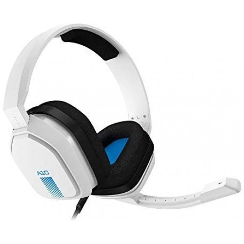 logitech ASTRO Gaming A10 Wired Gaming Headset, Damage Resistant, Astro Audio, Dolby Atmos, 3.5mm Audio Jack, Xbox Series X S, Xbox One, PS5, PS4, Switch, PC, Mac, Mobile - White/Blue