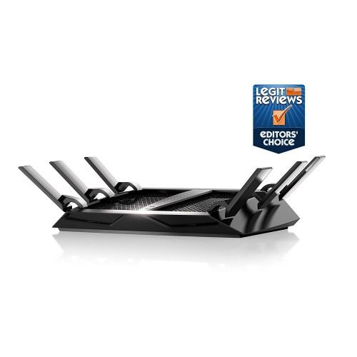 Netgear (R8000-100NAS) Nighthawk X6 AC3200 Tri-Band WiFi Router, Gigabit Ethernet, Compatible with  Echo/Alexa