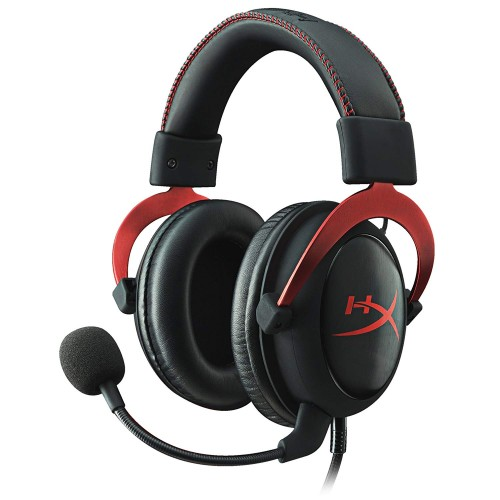 HyperX Cloud II Gaming Headset - 7.1 Surround Sound - Memory Foam Ear Pads - Durable Aluminum Frame - Multi Platform Headset - Works with PC, PS4, PS4 PRO, Xbox One, Xbox One S - Red KHX-HSCP-RD