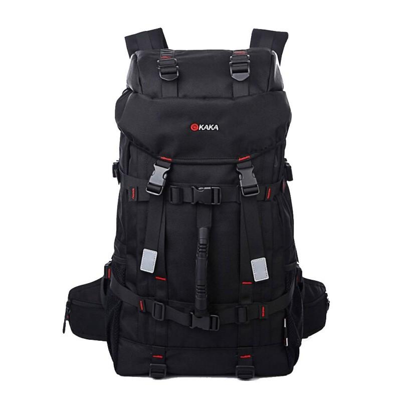 KAKA Backpack Climbing Hiking Shoulder bag Outdoor Daypack Black 55L