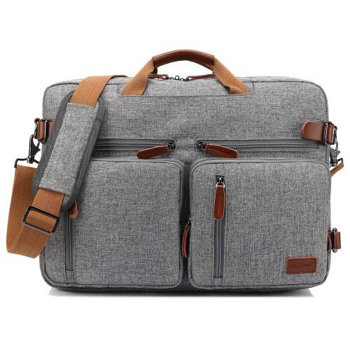 CoolBELL  Backpack laptop bag business briefcase multi-functional travel backpack suitable for 17.3-inch men's and women's laptops (grey) (black)