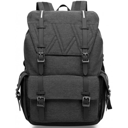 KAKA Water Resistant Laptop Bag Anti-Theft Travel Bag Large Capacity Shoulder Daypack School Backpack Black