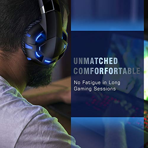 RUNMUS Gaming Headset Xbox One Headset with 7 1 Surround
