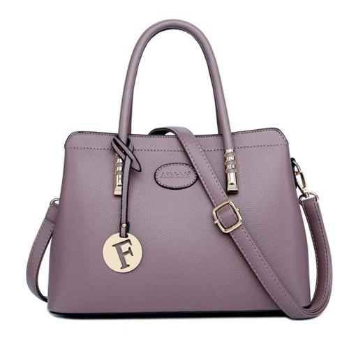 AIBKHK Fashion Genuine Leather Handbag for Women Top Handle Satchel Handbags Mother's Shoulder Bag
