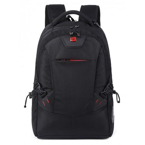 WEMGE SABRE Travel Laptop Backpack Student Bag Wear-Resistant Waterproof Nylon Backpack for Men and Women,Black