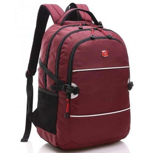 WEMGE SABRE Casual Backpack, Lightweight, Wear-resistant, Waterproof Nylon Fabric with 15.6-inch Laptop Compartment for School, Office, Travel and Other Activities.