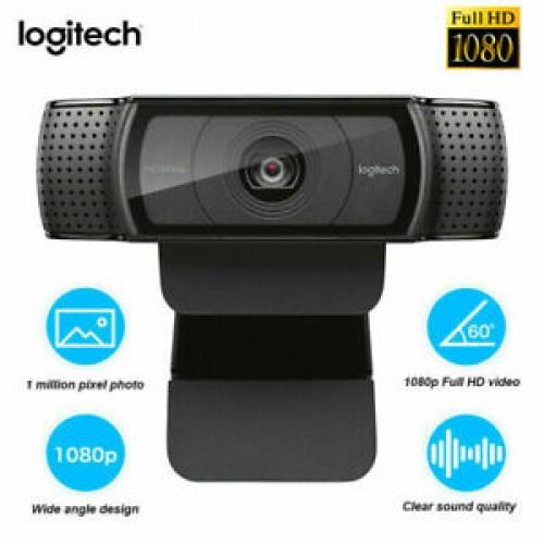 Logitech HD Pro C920 Webcam 1080P Auto Focus Doppio Microfono Per Computer L4W1