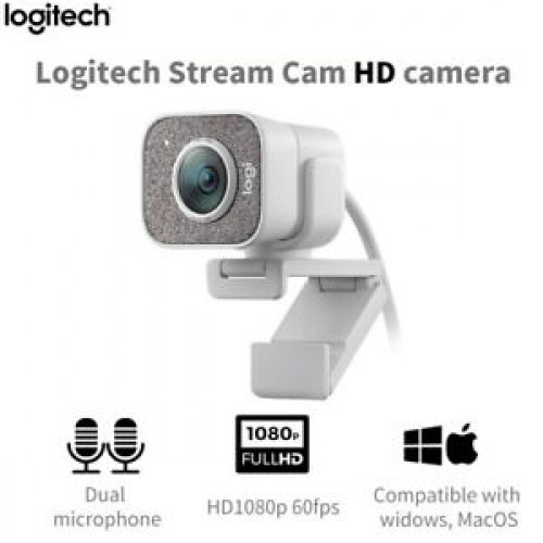 Logitech StreamCam Full HD 1080p 60fps Web camera with USB-C live streaming