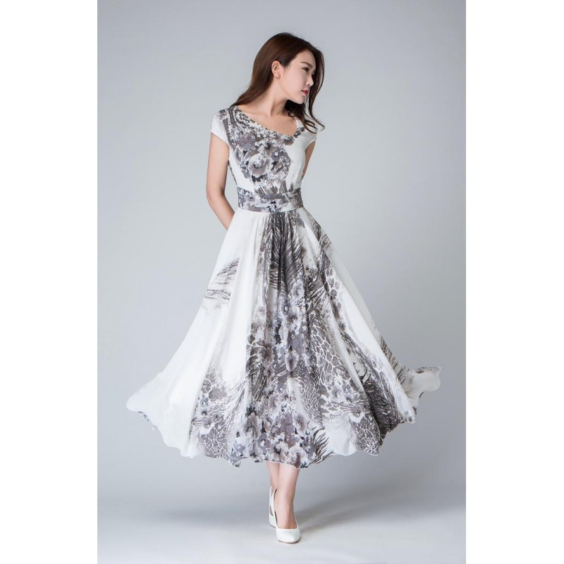 print dress, cocktail dress, prom dress, maxi dress, chiffon dress, long dress, women dresses, cap sleeve dress, party dress