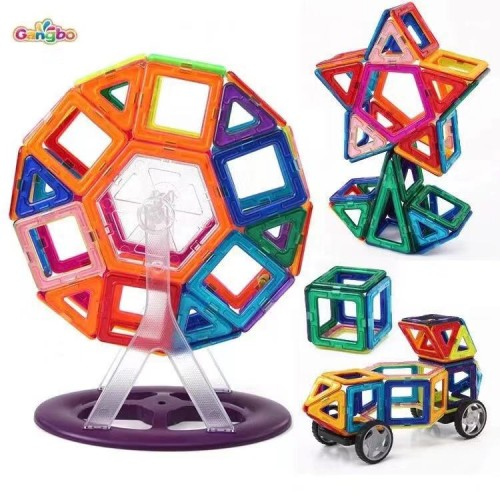 Gangbo 88 Piece Set 88pcs Magnet Building Tiles Clear Magnetic 3D Building Blocks Construction Playboards, Creativity beyond Imagination, Inspirational, Recreational, Educational Conventional