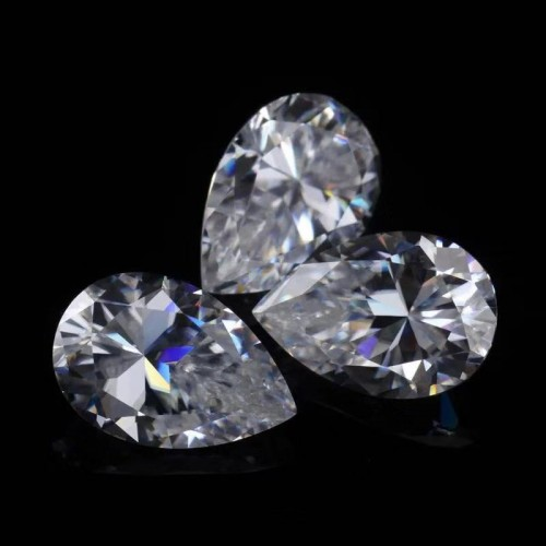 D color ultra white 0.7 carat diamond pear-shaped cut   mossanite diamond stone