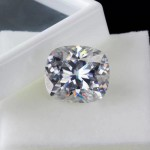 0.63* 0.72-inch fat square VVS 16.5-carat transparent noble and elegant mossanite nude diamond