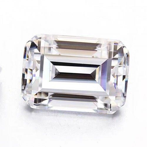 Emerald cut EF color mo mulberry stone naked stone through white mo mulberry naked diamond