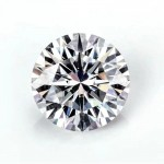 Ten heart ten arrow cut ultra white round D color  mossanite  stone 0.5 carat bare stone