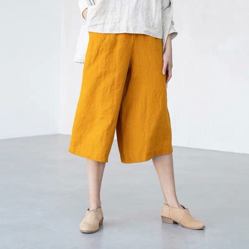 Linen culottes WELS Linen wide leg WELS MIDI pants  maxi skirt  pants available in all colors