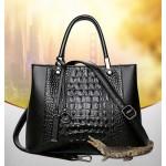 AIBKHK fashion the crocodile grain bag, women's handbag, crossbody bag black s9188