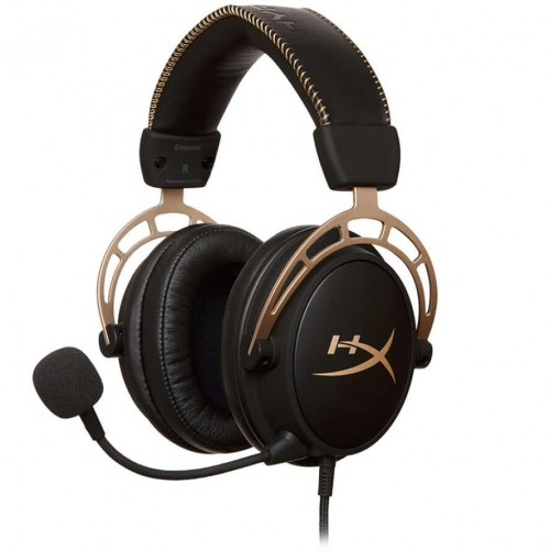 HyperX Cloud Alpha Gaming Headset - Dual Chamber Drivers - Award Winning Comfort - Durable Aluminum Frame - Detachable Microphone - Works with PC, PS4, PS4 PRO, Xbox One, Xbox One S HX-HSCA-RD AM
