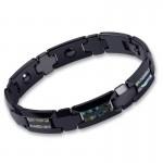 Men's Black Tungsten Gold Understated Luxury Bracelet