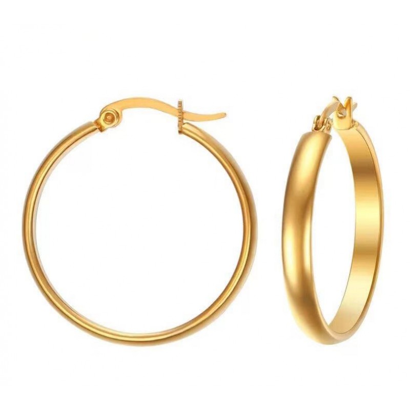 Fashionable and Popular Adorn Article 29MM Stainless Steel Ear Ring is Aureate Temperament Ear is Acted The Role Of Avoid Allergy