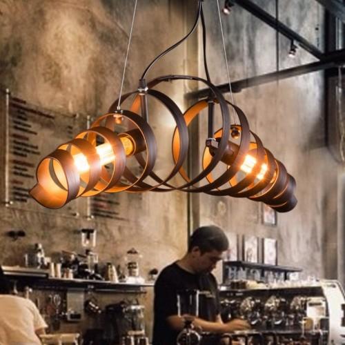 Bar retro minimalist iron lamp pendant lamp modern industrial style chandeliers